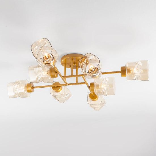 Фото №2 Потолочная люстра со стеклянными плафонами 30165/8 перламутровое золото