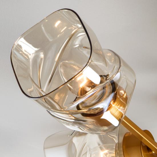 Фото №3 Потолочная люстра со стеклянными плафонами 30165/8 перламутровое золото