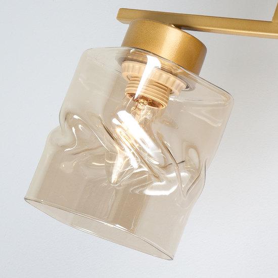 Фото №5 Потолочная люстра со стеклянными плафонами 30165/4 перламутровое золото