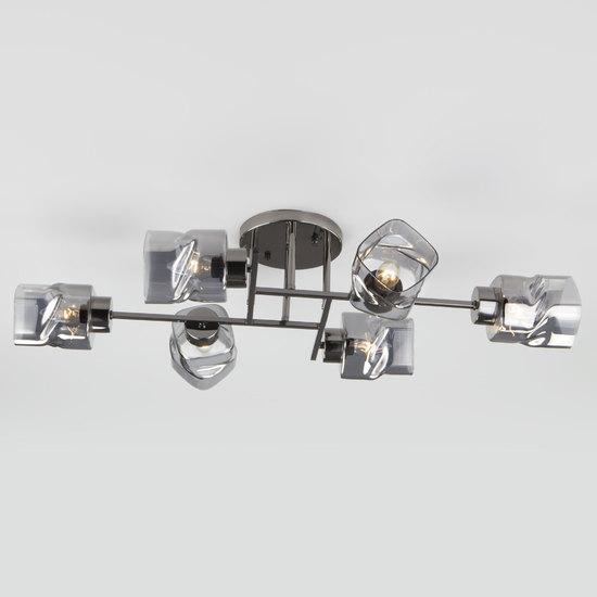 Фото №5 Потолочная люстра со стеклянными плафонами 30165/6 черный жемчуг