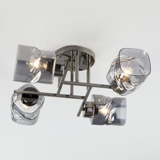 Фото №2 Потолочная люстра со стеклянными плафонами 30165/4 черный жемчуг