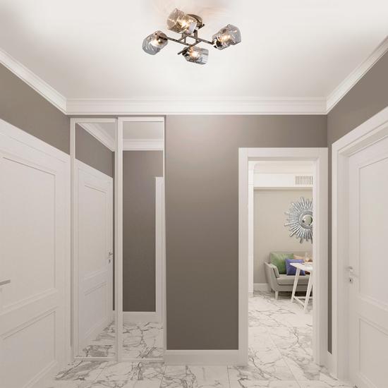 Фото №3 Потолочная люстра со стеклянными плафонами 30165/4 черный жемчуг