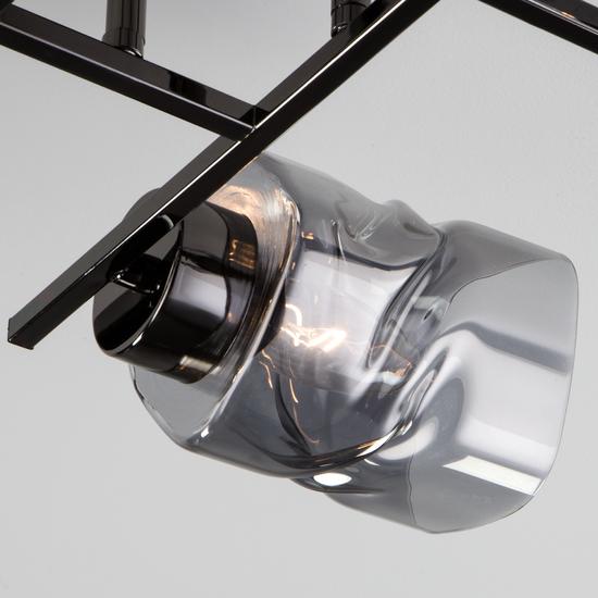 Фото №4 Потолочная люстра со стеклянными плафонами 30165/4 черный жемчуг