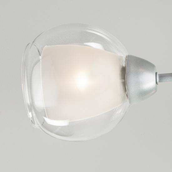 Фото №3 Потолочная люстра со стеклянными плафонами 30163/8 серебро