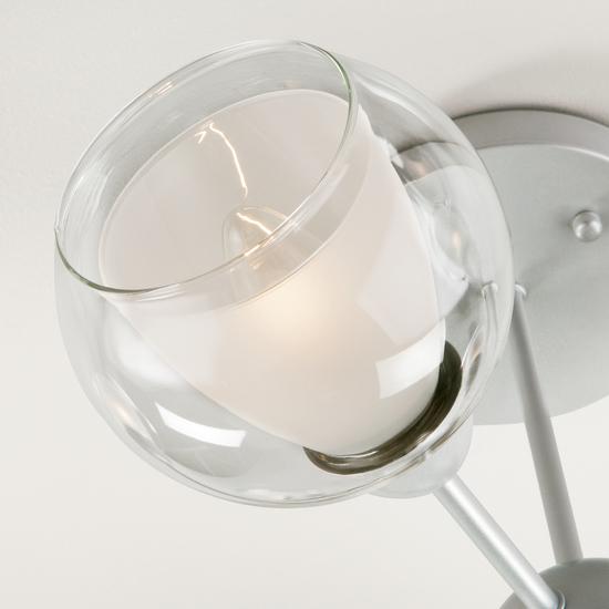 Фото №3 Потолочная люстра со стеклянными плафонами 30163/6 серебро