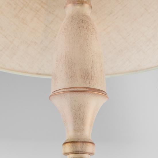 Фото №5 Классический торшер с абажуром 01081/1 белый с золотом