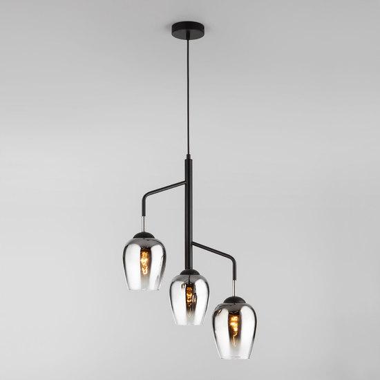 Фото №4 Подвесной светильник со стеклянными плафонами 50086/3 хром