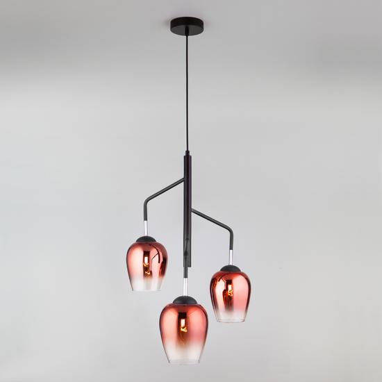 Фото №3 Подвесной светильник со стеклянными плафонами 50086/3 медь