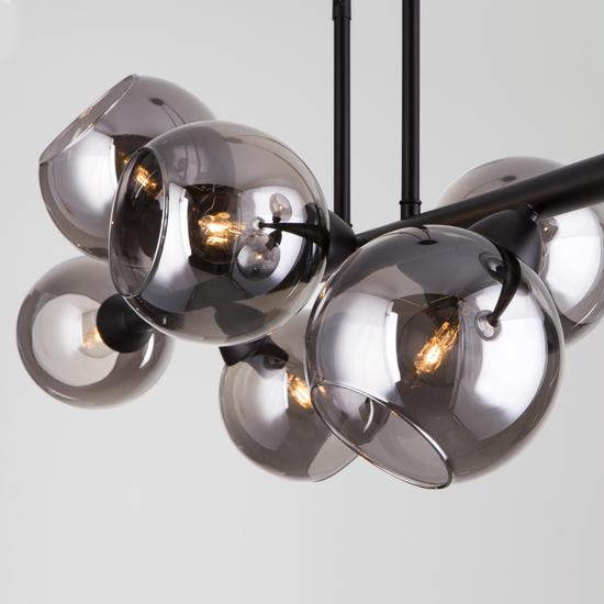 Фото №3 Подвесной светильник со стеклянными плафонами 70113/8 дымчатый