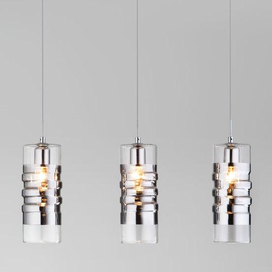Фото №2 Подвесной светильник со стеклянными плафонами 50185/3 хром
