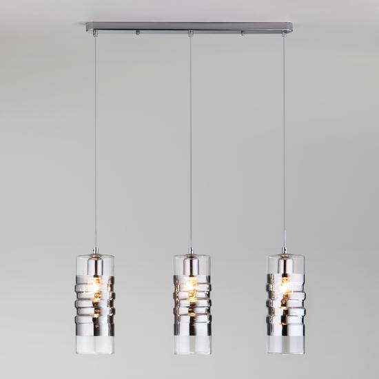 Фото №3 Подвесной светильник со стеклянными плафонами 50185/3 хром