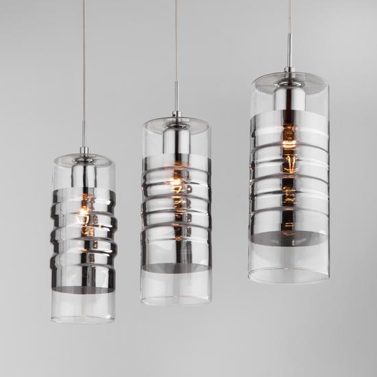 Фото №4 Подвесной светильник со стеклянными плафонами 50185/3 хром