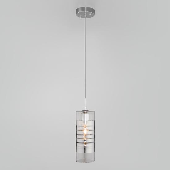 Фото №4 Подвесной светильник со стеклянным плафоном 50185/1 хром