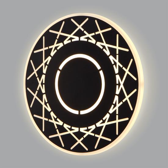 Фото №2 Настенный светодиодный светильник 40148/1 LED черный