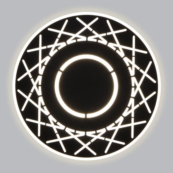 Фото №3 Настенный светодиодный светильник 40148/1 LED черный