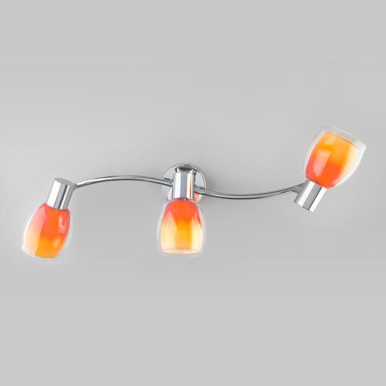Фото №3 Настенный светильник с поворотными плафонами 20119/3 оранжевый