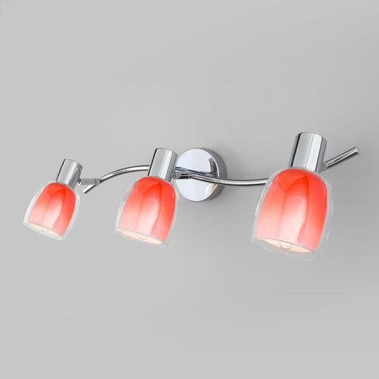 Фото №2 Настенный светильник с поворотными плафонами 20119/3 красный