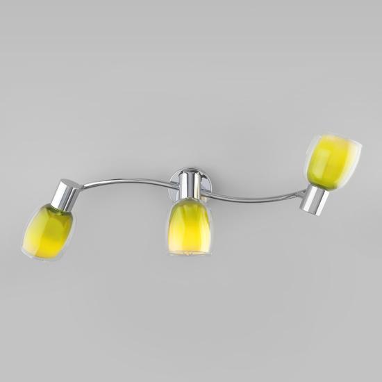Фото №3 Настенный светильник со стеклянными плафонами 20119/3 зеленый