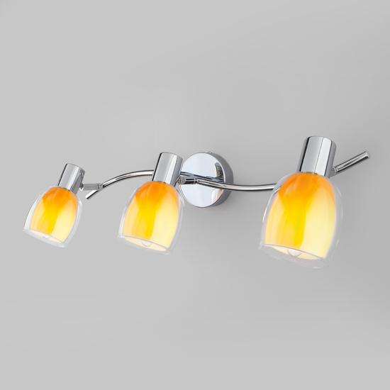 Фото №2 Настенный светильник со стеклянными плафонами 20119/3 желтый