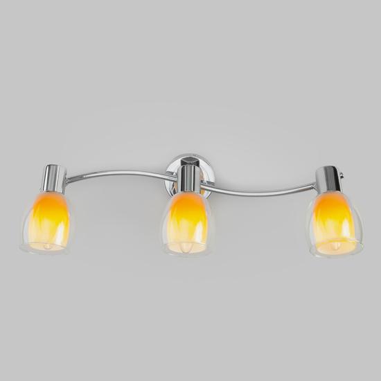Фото №3 Настенный светильник со стеклянными плафонами 20119/3 желтый