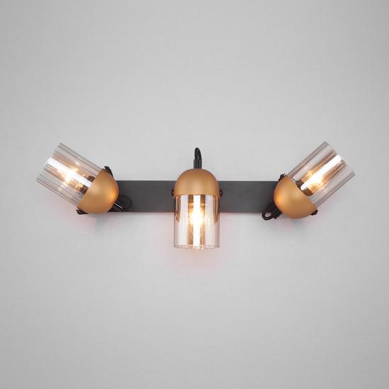 Фото №4 Настенный светильник с поворотными плафонами 20122/3 черный/золото