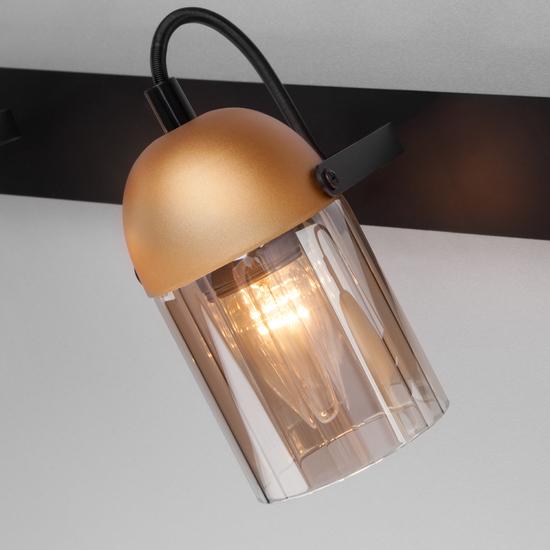 Фото №5 Настенный светильник с поворотными плафонами 20122/3 черный/золото