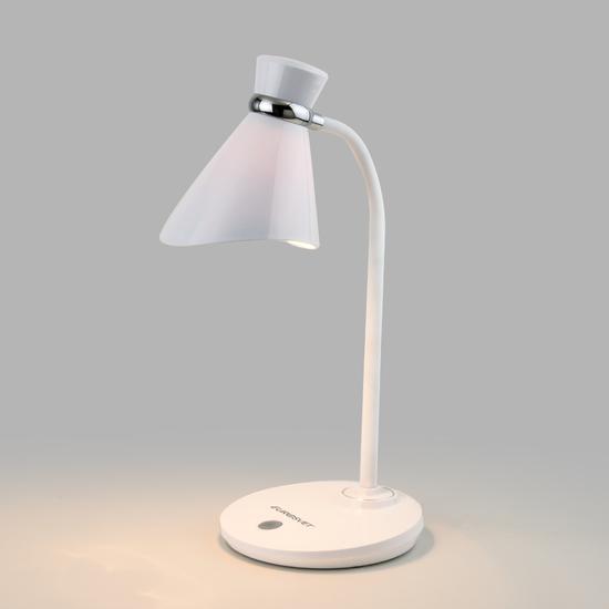 Фото №2 Настольный светильник с выключателем 01077/1 белый