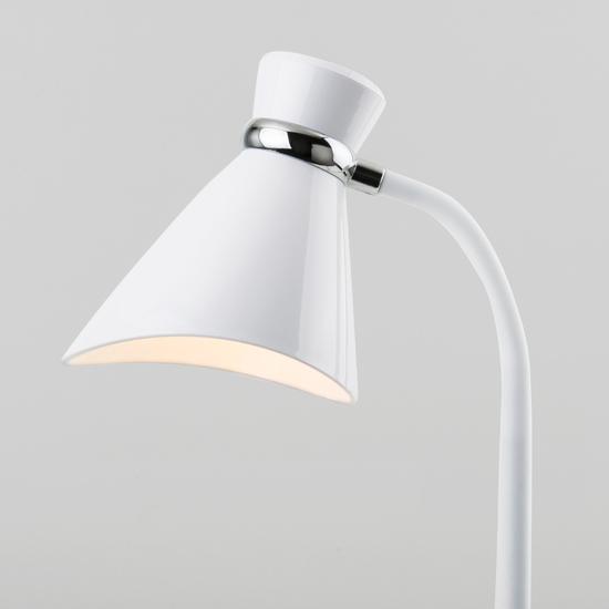 Фото №4 Настольный светильник с выключателем 01077/1 белый