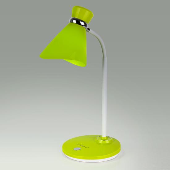 Фото №2 Настольный светильник с выключателем 01077/1 зеленый