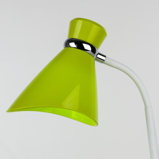 Фото №4 Настольный светильник с выключателем 01077/1 зеленый
