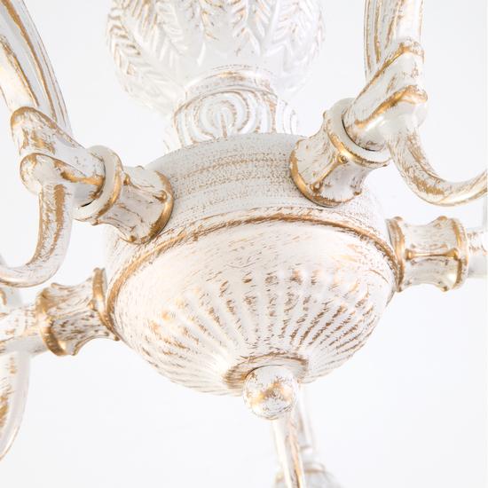 Фото №4 Потолочная люстра со стеклянными плафонами 60107/5 белый с золотом