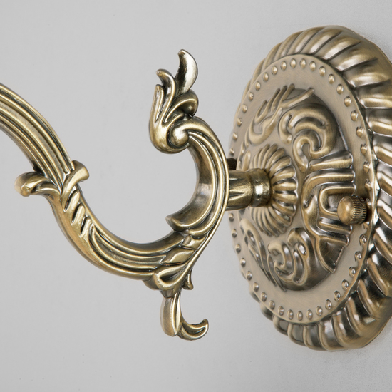 Фото №4 Классическое бра со стеклянным плафоном 60106/1 античная бронза