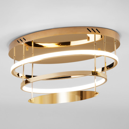 Фото №2 Потолочный светодиодный светильник с пультом управления 90160/2 золото
