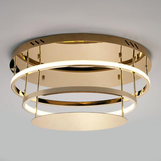 Фото №3 Потолочный светодиодный светильник с пультом управления 90160/2 золото