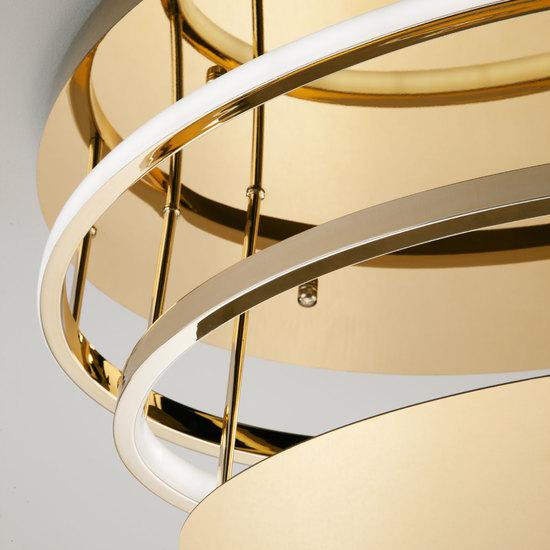 Фото №5 Потолочный светодиодный светильник с пультом управления 90160/2 золото