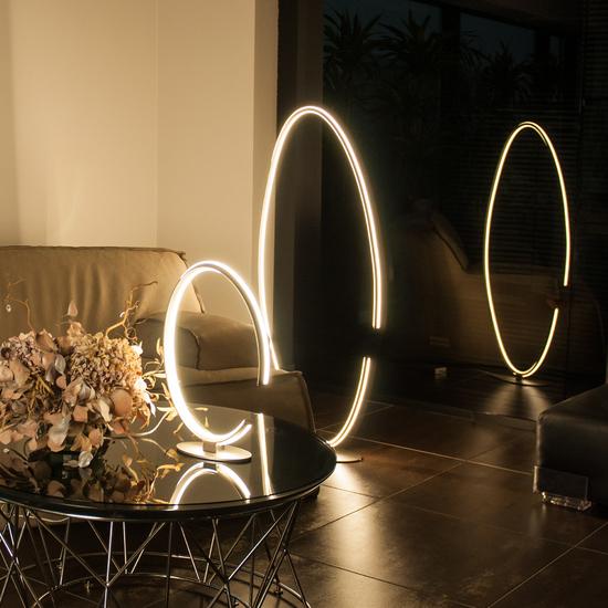 Фото №3 Напольный светодиодный светильник 80415/1 сатин-никель