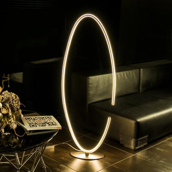 Фото №4 Напольный светодиодный светильник 80415/1 сатин-никель