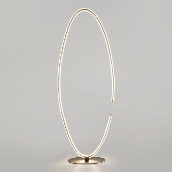Фото №5 Напольный светодиодный светильник 80415/1 сатин-никель