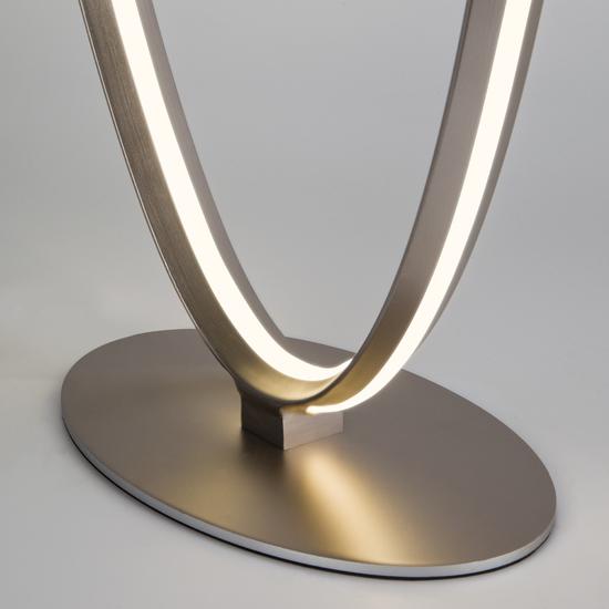 Фото №6 Напольный светодиодный светильник 80415/1 сатин-никель