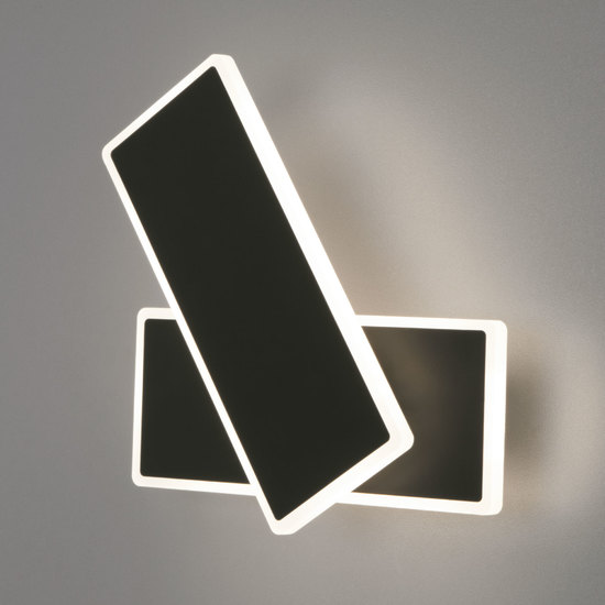Фото №2 Настенный светодиодный светильник 90316/2 черный