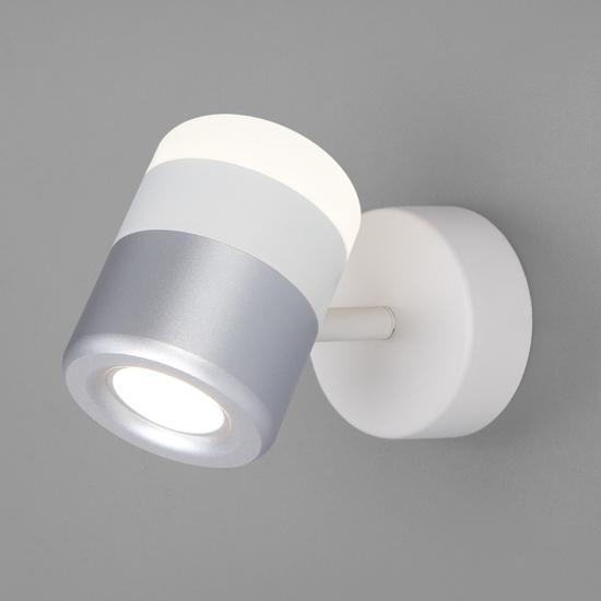 Фото №2 Настенный светодиодный светильник 20165/1 LED белый/серебро