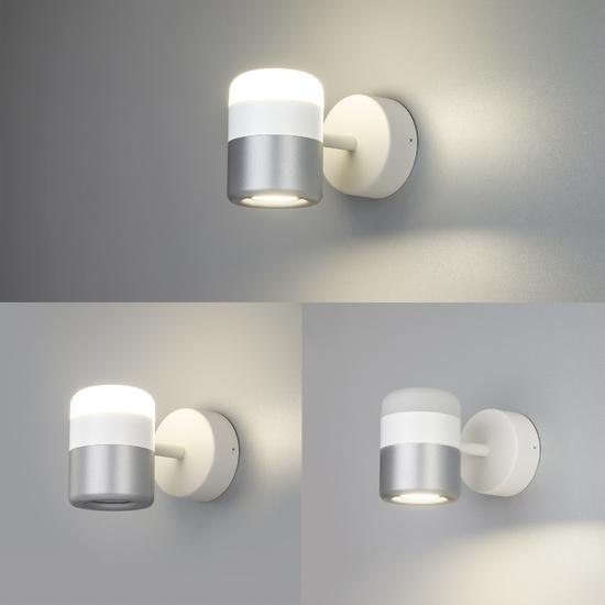 Фото №3 Настенный светодиодный светильник 20165/1 LED белый/серебро