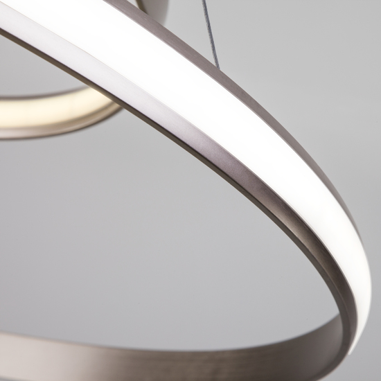 Фото №8 Подвесной светодиодный светильник с пультом управления 90179/5 сатин-никель
