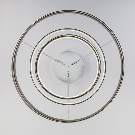 Фото №9 Подвесной светодиодный светильник с пультом управления 90179/5 сатин-никель
