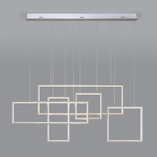 Фото №2 Подвесной светодиодный светильник с пультом управления 90178/5 сатин-никель
