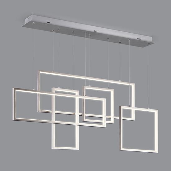 Фото №3 Подвесной светодиодный светильник с пультом управления 90178/5 сатин-никель