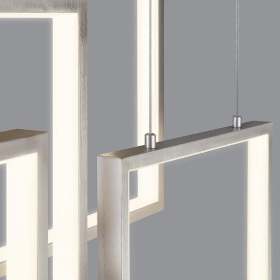 Фото №5 Подвесной светодиодный светильник с пультом управления 90178/5 сатин-никель