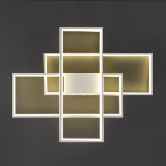 Фото №5 Потолочный светодиодный светильник 90177/3 белый