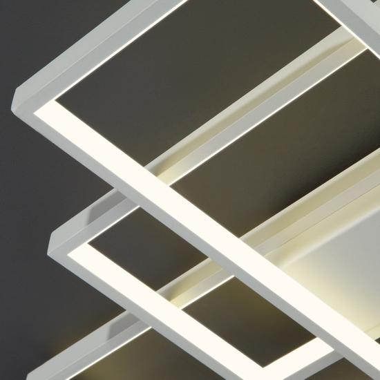 Фото №6 Потолочный светодиодный светильник 90177/3 белый