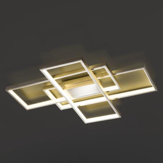 Фото №2 Потолочный светодиодный светильник 90177/3 сатин-никель